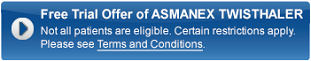 Free Trial Offer of ASMANEX TWISTHALER. Not all patients eligible. Certain restrictions apply. Please see Terms and Conditions.